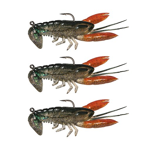 Lixada Soft Fishing Lure Crawfish Bait Shrimp Lobster Claw Artificial Lure Swimbait 8cm/14g