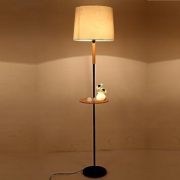 Lámpara de pie Tela de Hierro de Madera 35 * 160 cm ...