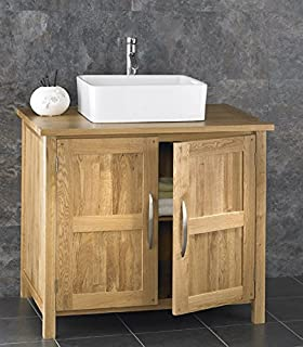 Alta Solid Oak Wide By Deep Two Door Cabinet With