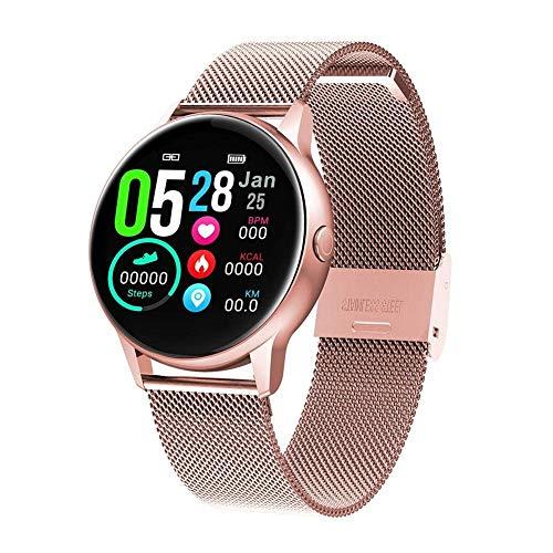 Smartwatches mujer naack smartwatch, Reloj Inteligente Impermeable IP68 Pulsera de Actividad Pulsómetro Monitor de sueño Deportivo Cronómetro Contador de calorias para Mujer Color Dorado iOS y Android