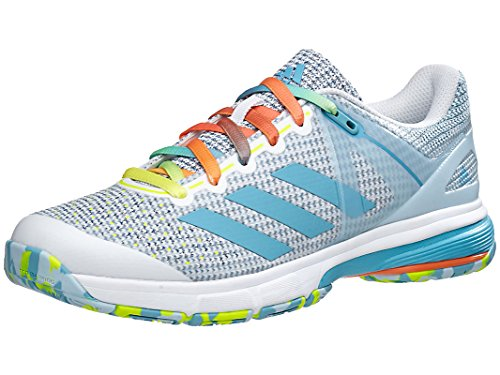 Shoes Indoor Adidas Court (adidas Court Stabil 13 Womens Handball Shoe 7.5 White-Vapour Blue-Solar Yellow)