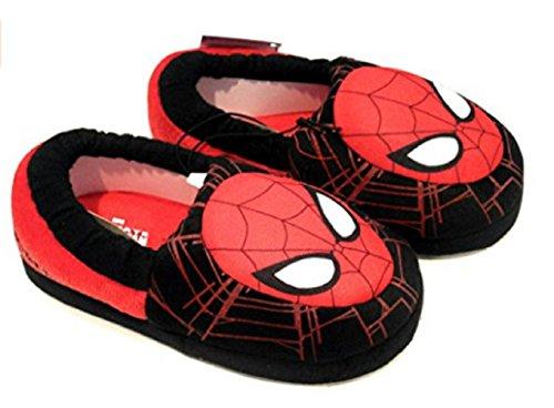 Marvel Spiderman Boys' Aline Slippers Slip On Slippers Black (5-6M US Toddler)