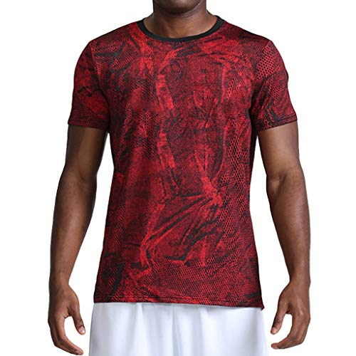 - Men's Fitness Fast Drying Camouflage Sports Breathable Short Sleeve T-Shirt Tops