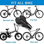 QXMCOV-Sella-Bici-Comoda-Sella-per-Bicicletta-Uomo-Donna-Professionale-Sella-per-Bici-Mountain-in-Gel-con-Cover-Impermeabile-e-Set-di-Installazione-per-Mountain-Bike-e-Bici-da-Strada