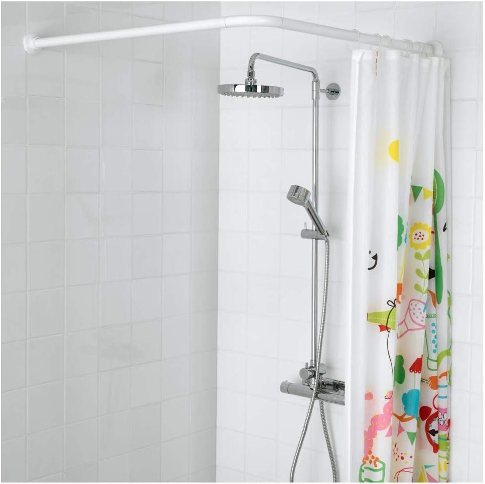 IKEA ASIA VIKARN - Barra de Cortina de Ducha, Color Blanco: Amazon ...