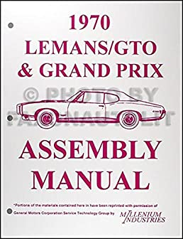 1970 pontiac lemans gto tempest grand prix assembly manual reprint rh amazon com 1975 Pontiac LeMans 1973 Pontiac LeMans