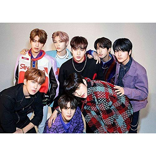 Youyouchard Kpop Stray Kids Posters, Stray Kids Bang Chan Lee Know Seo Chang-Bin Hwang Hyun-Jin Poster Wall Painting Decor Gift for Fans 42x30cm(H01)