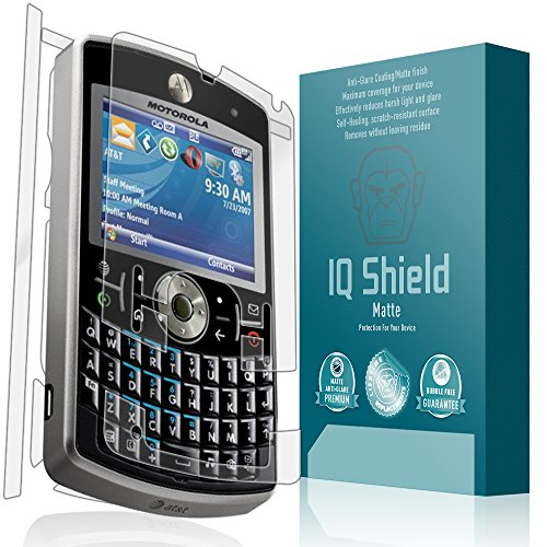 IQ Shield Matte Full Coverage Anti-Glare Full Body Skin + Screen Protector for Motorola Q9M Anti-Bubble Film
