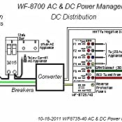 WFCO WF-8712P WF-8700 Series Power Center Converter Charger - 12 Amp, on