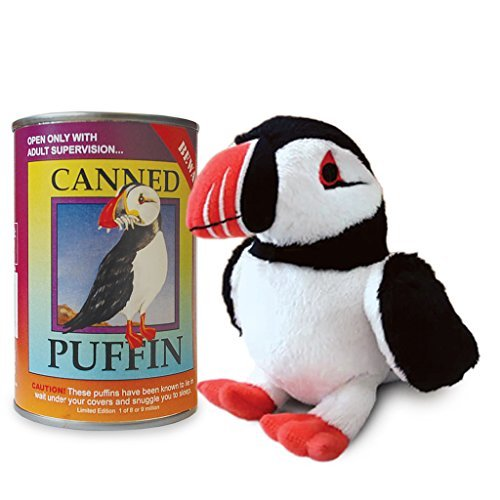 Canned Critters Stuffed Animal: Puffin 6