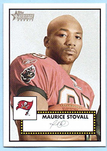 2006 Topps Heritage Rookie Card (Maurice Stovall 2006 Topps Heritage Rookie #156 - Tampa Bay Buccaneers)