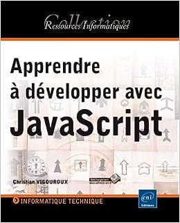 couverture du livre Apprendre à développer avec JavaScript
