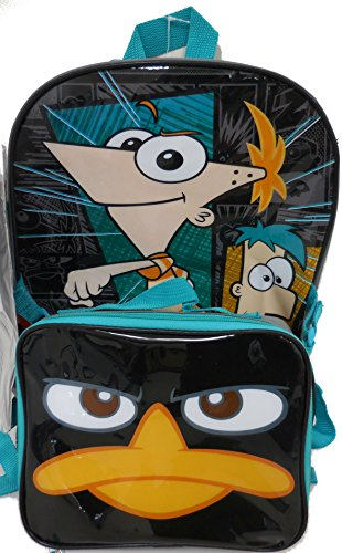 Disney Phineas and Ferb Large Backpack with Detachable Utility Bag and Bonus Hydrator Pouch primary