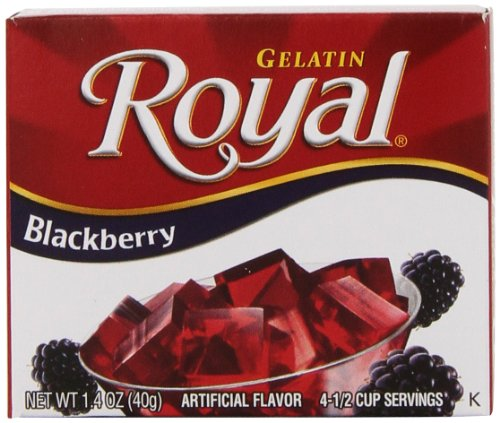 Royal Gelatin, Fat Free Dessert Mix, Blackberry (12 - 1.4 oz Boxes)