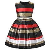 Dresses Girls 7-8 Dress Girls Dress Girls Church Dresses Kids Dresses Summer Girls 7 Year Old Girl Dresses (Red,7)