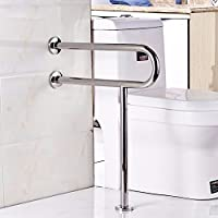 WAZZJ Bathroom safety handrails, barrier free stainless steel handrails, bathroom skid, elderly disabled handrails,60cm