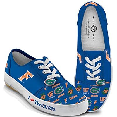 University Of Florida Gators Women's Canvas Shoes: I Love The Gators by The Bradford Exchange
