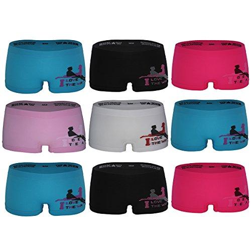 GreeNice Culotte Sin Costura Para Mujer, Cortos Braguitas Calzoncillos 3236, Pack de 9-12 Pack de 9