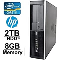 HP Elite 8100 i5 Workstation Tower Computer- New 2TB HDDs - 8GB of Memory- Windows 7 Pro- Dual Monitor- Refurbished