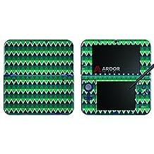 Teal Green Aqua Triangles Nintendo 3DS XL Skin/Decal