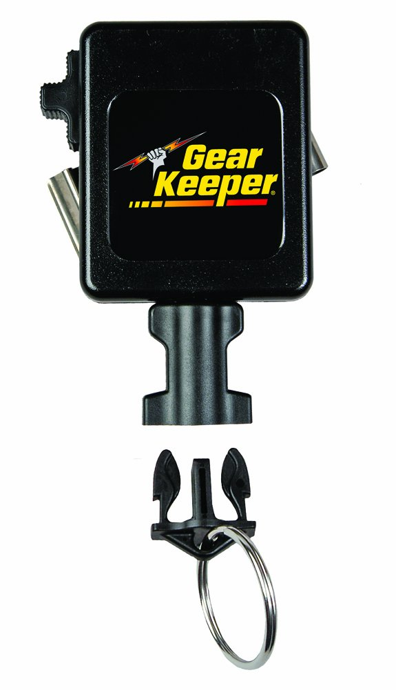 Gear Keeper RT3-5852 RT3 High Force 15-28 Key Retractor with Stainless Steel Rotating Belt Clip, 80 lbs Breaking Strength, 12 oz Force, 42'' Extension