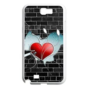 Vety Wall Heart Samsung Galaxy Note 2 Cases, {White}