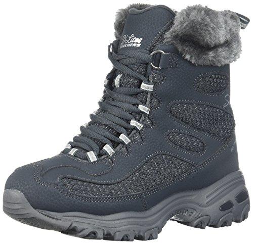 Skechers Women's D'Lites Winter Boot Charcoal