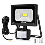 MK Security Lights with Motion Sensor, 10w Led Sensor Outdoor light, IP66 Waterproof Security Lighting, High Output 1000lumen, Super Bright LED PIR Floodlight, Ideal for Garden, Car park, Hotel and Forecourt, Daylight White