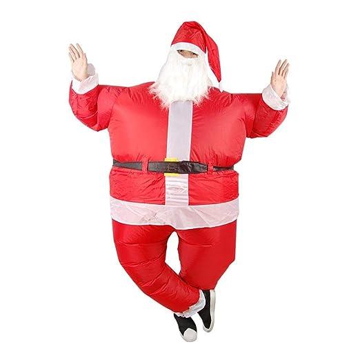 AOLVO Ropa Adulto Hinchable Reno Trineo y inflables Papá Noel ...