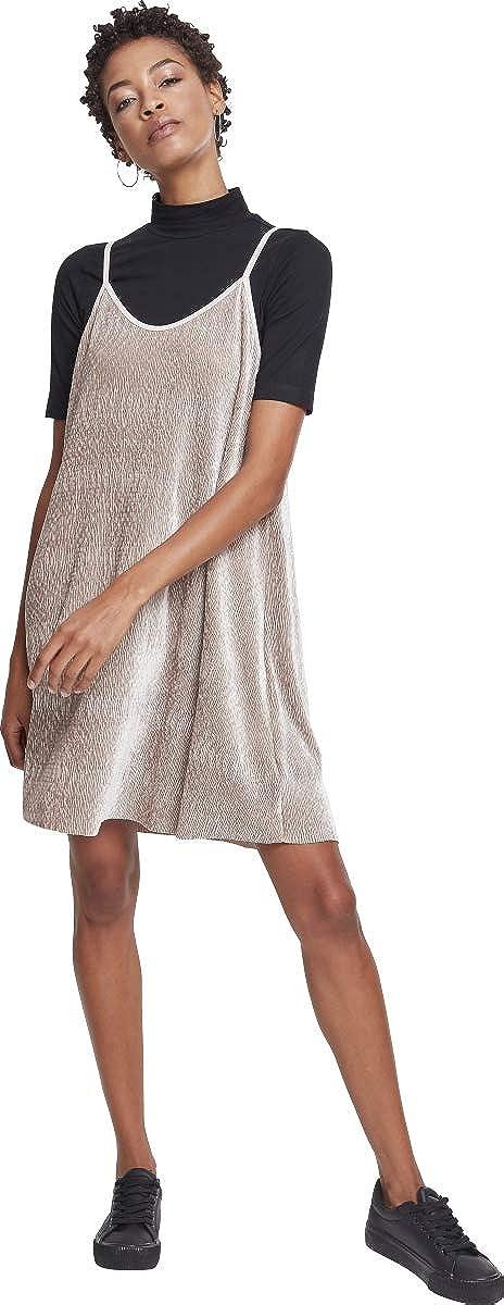 Urban Classics Ladies Velvet Slip Dress Vestido para Mujer
