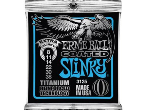 Ernie Ball Coated Electric Titanium RPS Extra Slinky Set, .0