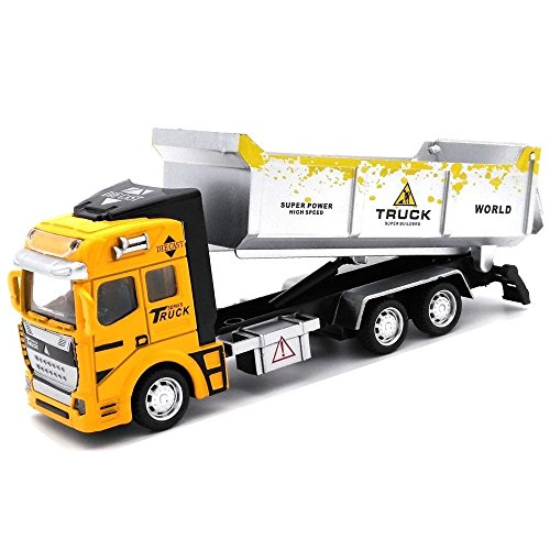 UiiQ Pull Back Car Toy Metal Construction Vehicle Toy Friction Powered Engineering Vehicles Alloy Die cast Toy for Boy Girl Kids (Dump Truck) by UiiQ