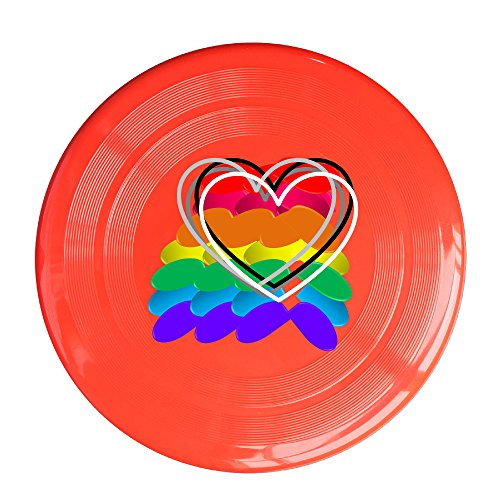 VOLTE Rainbow Lesbian Gay Pride LGBT Red Flying-discs 150 Grams Outdoor Activities Frisbee Star Concert Dog Pet Toys
