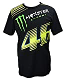 Yamaha Valentino Rossi VR46 X MONSTERENERGY short-sleeved T-shirt MONZA Black Monster Energy & amp; 46 Biggurogo size LARGE (Europe)