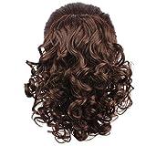 WeKen Women Hair Bun Curly Hair Synthetic Medium Long Hairpiece Dark Brown