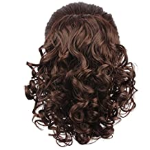 WeKen Women Hair Bun Curly Hair Synthetic Medium Long Hairpiece Dark Brown