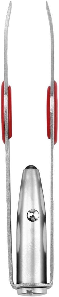 MXECO Mini portatile in acciaio inossidabile con luce LED per la rimozione delle pinzette per sopracciglia
