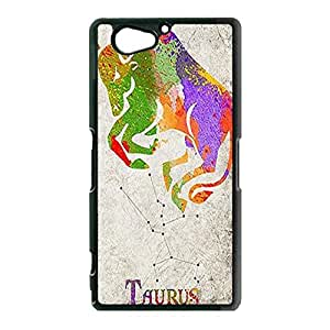Enchanting Taurus Phone Case For Sony Xperia Z2 Compact (Z2 mini) Illusion Taurus Pattern