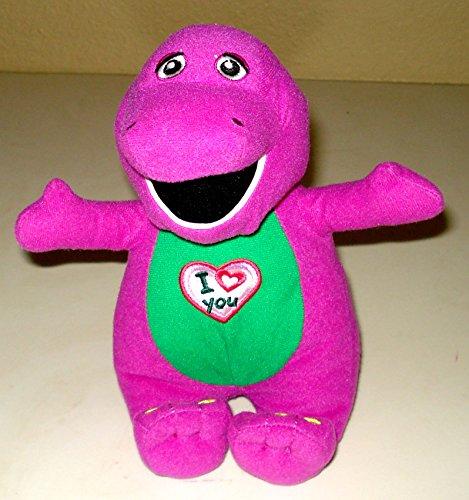 Barney the Dinosaur Plush Singing I Love You - 9 Inches (Singing Plush Doll)