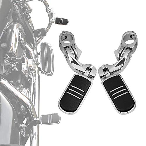 """Motorcycle Highway Pegs Foot Peg for Softail Sportster Electra Road Glide Road King Street Glide with 1.25"""" Engine Guard 1 1/4 Highway Bar"""