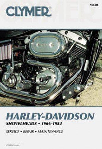 Fl Motor - M420 1966-1984 Harley-Davidson FL FX Shovelhead Motorcycle Repair Manual Clymer