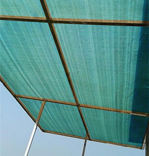 Pond Plants Shade (Patio Shade Fabric for Greenhouse,Pond Cover,Pergola Cover,Patio Side Fence 6x12ft DarkGreen)