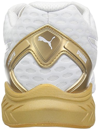 Puma Vrouwen Ontbranden Dubbele Gouden Wns Hardloopschoen Puma Wit-goud