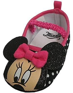 Minnie Mouse Black Polka Dot Dress Shoes - Infant