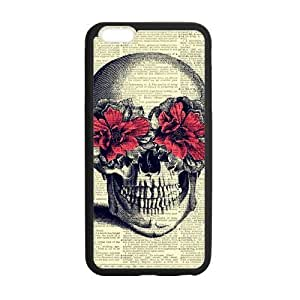 DaojieTM Skull Custom Cover Case for Iphone6 4.7 Inch(laser Technology)