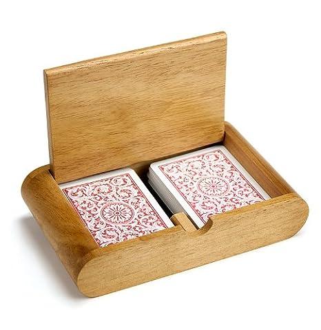 Amazon.com: 2 Cubierta (Poker y tamaño del puente) de madera ...