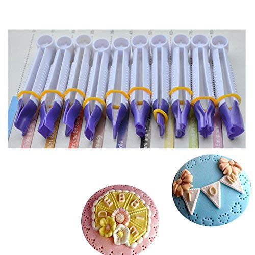 r Tpe Lace Clip Fondant Biscuits Cutter Decorating Sugarcraft Gum Paste Cupcake Cookie - Navy Metal Liquid High Blue Yellow Stamens Stars White Pad ()