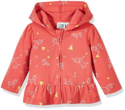 Silly Apples Baby Girls Cotton Blend Long-Sleeve Ruffle Hoodie Jacket (NB) Pink