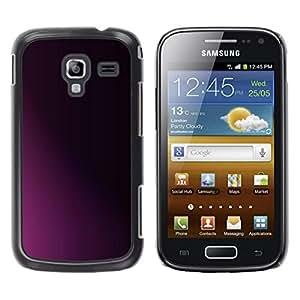 Be Good Phone Accessory // Dura Cáscara cubierta Protectora Caso Carcasa Funda de Protección para Samsung Galaxy Ace 2 I8160 Ace II X S7560M // Clean Minimalist Purple Black Shadow