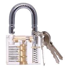 niceEshop(TM) Cutaway Inside View of Practice Padlock Lock Training Skill Lock ,Transparent